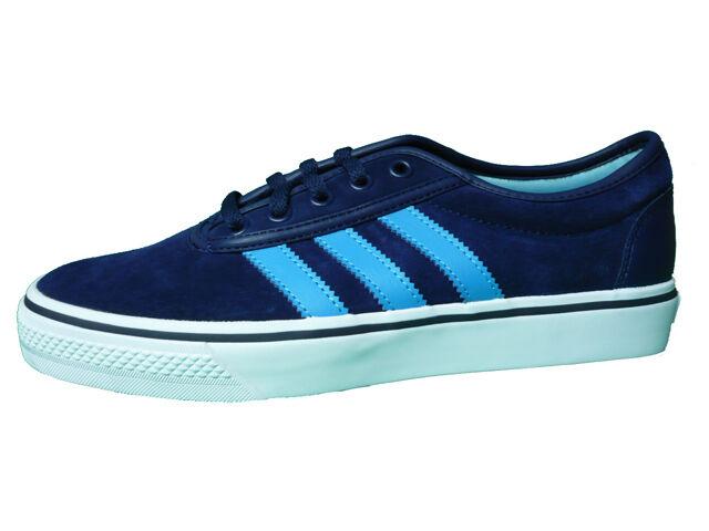 Adidas Originals Adi ease cuero cortos skater zapatos cuero ease azul 784872