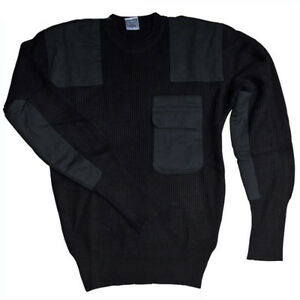 Details about MFH BW Jumper Outdoor Sweater Knitted Pullover With Breast Pocket Black 48 to 64 show original title