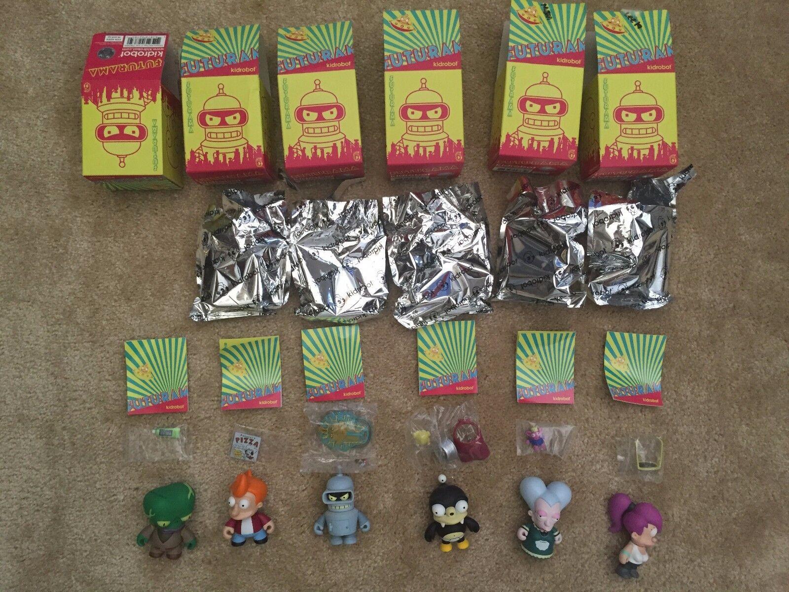 Kidrobot Futurama Series 1 Lot SIGNED BENDER, Fry, Nibbler, Leela, Mom, Morbo