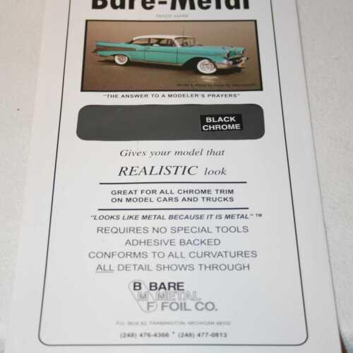 Black Chrome Bare-Metal Foil