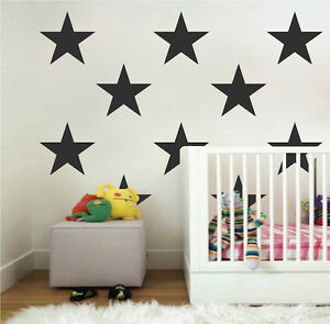 Image is loading Large-Bedroom-Star-Stickers-Big-Star-Wall-Decals- & Large Bedroom Star Stickers Big Star Wall Decals Bedroom Star Set ...