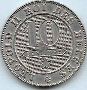 10 Centimes Léopold Ii 1894 Fr Qualité Cool En éTé Et Chaud En Hiver