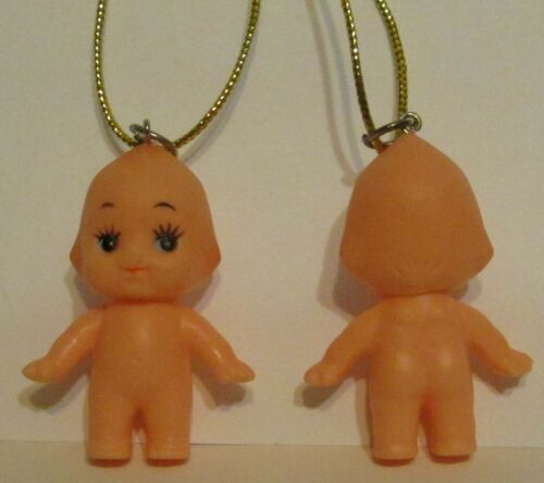 Kewpie Doll Artesian Ornament with Tiny Wings on Back