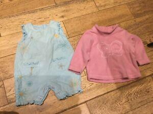 Aimable Bébé En Coton Tout En Un (bottes) & Rose Polaire (m&s) 9-12 Mois-afficher Le Titre D'origine
