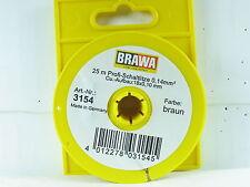 Brawa 3154 / 25 Meter Schaltlitze 0,14 mm² braun  OVP (y2401)