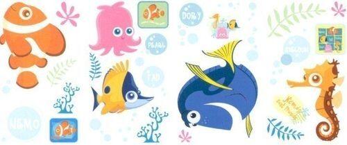 Disney в поисках Немо настенные наклейки 26 большой этикетки Дори жемчуг для скрапбукинга морская звезда