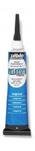 PEBEO VITREA 160 OUTLINER TRANSPARENT RELIEF PASTE GLASS & METAL PAINT PAINTING