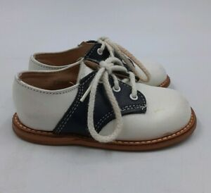 Tiny-Travellers-Retro-50s-Style-Kids-Toddler-Saddle-Shoes-Sz-5AA-Rockabilly-Baby