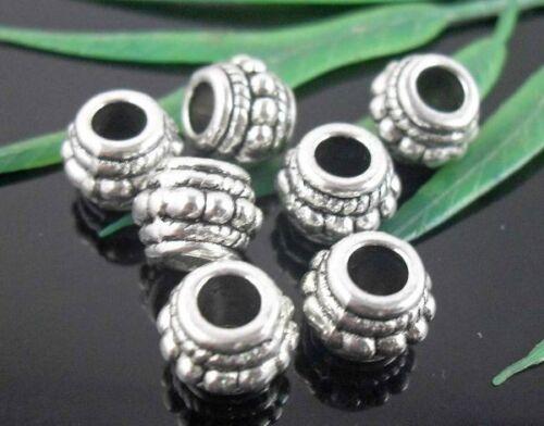 100Pcs Tibetan Silver Spacer Beads 8x6mm Lead-free