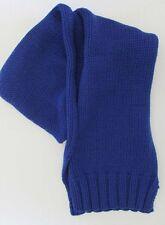 NWT Ralph Lauren Winter Snow Ski Wool Cotton Knit Scarf Blue