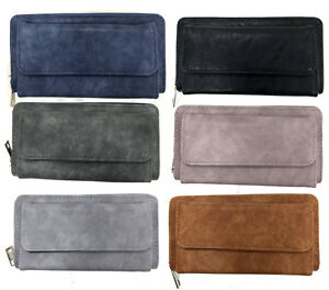 ab6e5f46b4571 Das Bild wird geladen Portemonnaie-Damen-Geldboerse-Damenboerse-lang-XL- Brieftasche-Geldtasche-