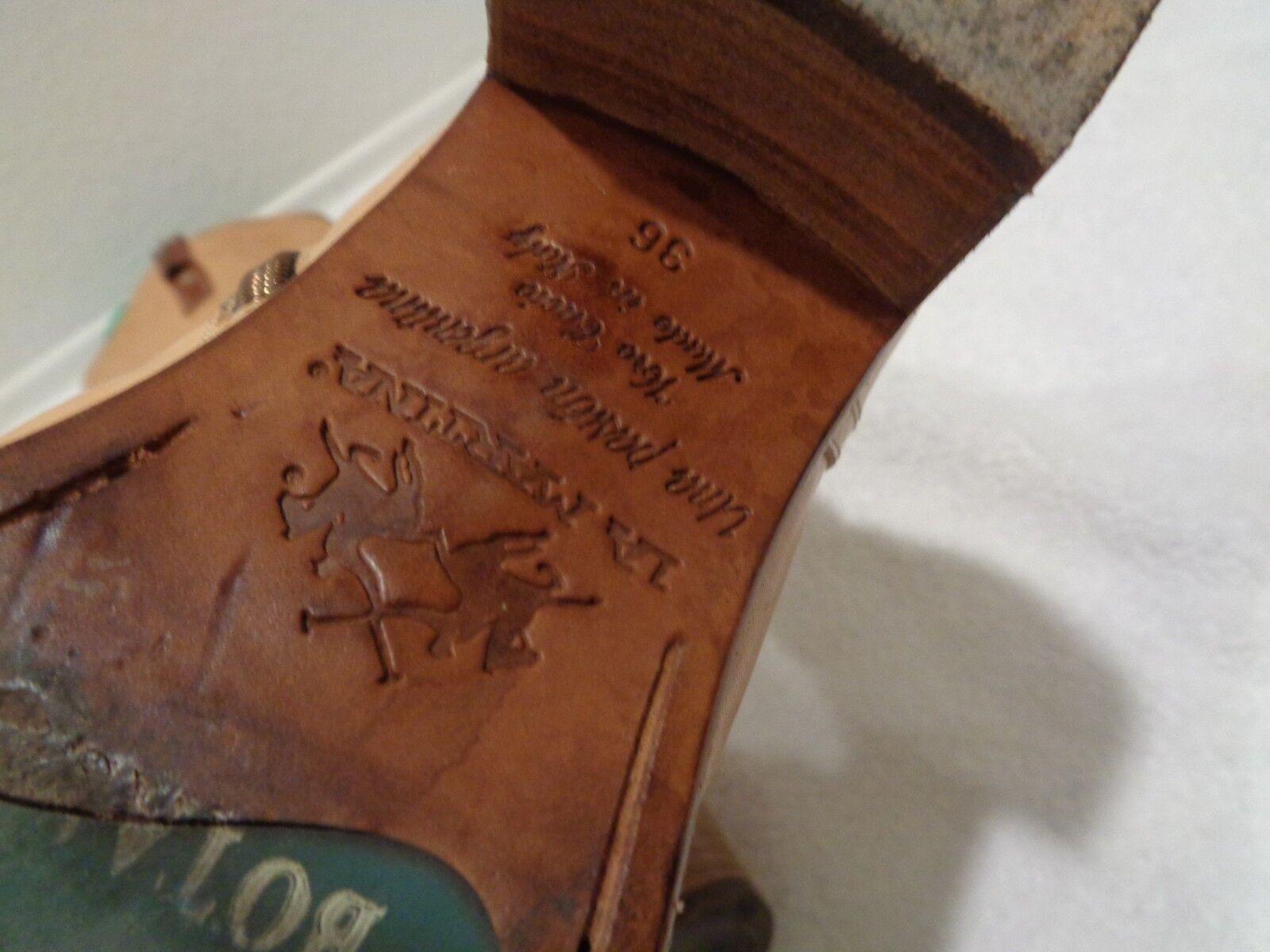 LA LA LA MARTINA una pasion silverina tall camel tall Boots SZ 36 6 db37c8