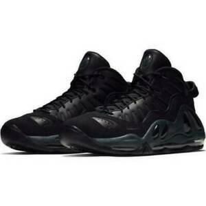 Nike Air Max Uptempo 97 Mens 399207 005 Triple Black Basketball Shoes Size 8.5