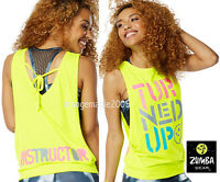 Zumba Instructor turned Up Instructor Loose Tank Racerback Zin Exclusive-s M L