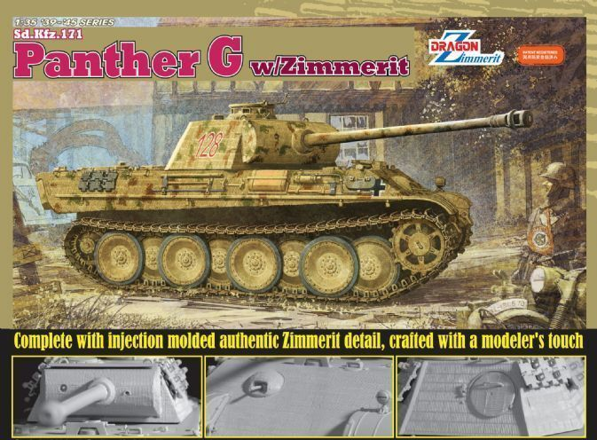 DRAGON 6384 1 35 Sd.Kfz.171 Panther Ausf.G w Zimmerit
