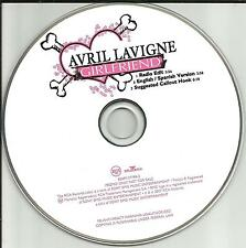 AVRIL LAVIGNE Girlfriend w/ SPANISH & RADIO EDIT PROMO Radio DJ CD single 2007