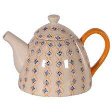 Retro Ceramic Blue And Yellow Pattern Teapot