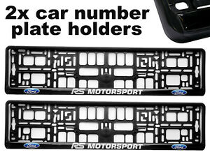 2-x-Doming-CAR-Number-Plate-Surround-Holder-Frames-BEST-FIT-for-FORD