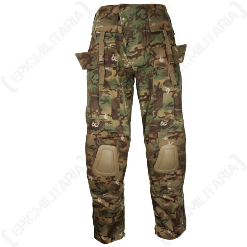 Feature Packed Warrior Combat Trousers Woodland Arid Extra Tough