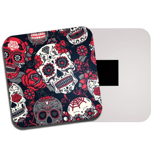 Rose Rouge Sucre Crânes aimant de réfrigérateur-Mexique Calavera Teen Girl/'s Gift #14215