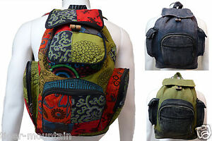 NEW-Hippy-Boho-Rucksack-Backpack-from-Nepal-Different-Colours-Fair-Trade