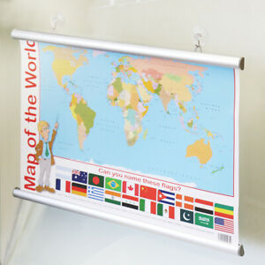 WHITE Aluminium poster hanger gripper maps drawings hanging A1 A0 3 Meter 300 CM