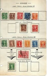 Canada-22-stamps-vf-used-1930-37