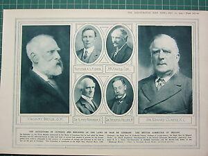 1915 Première Guerre Mondiale G.Mondiale 1 Imprimé ~ Britannique Committee Of 4GBxEgw4-08045333-437580844