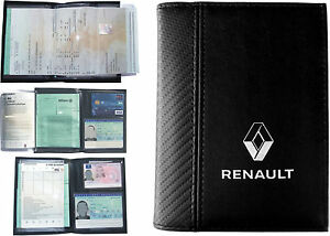 pochette etui porte carte grise renault permis de conduire assurance ebay. Black Bedroom Furniture Sets. Home Design Ideas