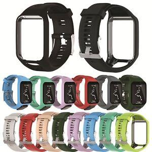 Silicona-relojes-de-pulsera-brazalete-watch-banda-furtomtom-Runner-2-amp-3-Spark-3-golfista-2-reloj