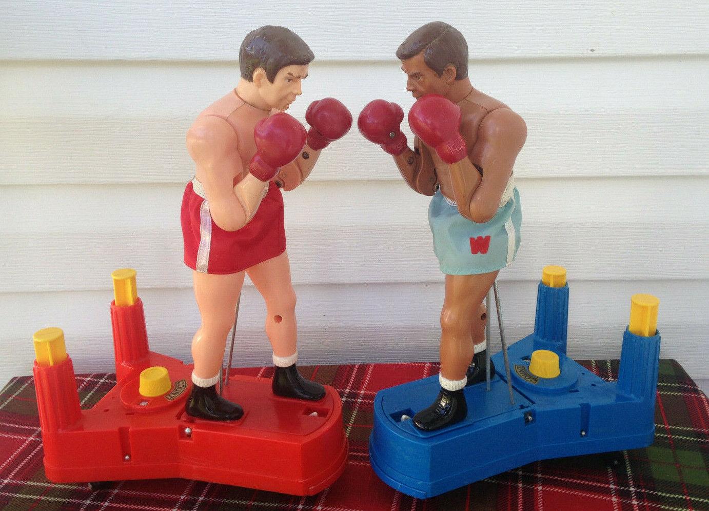 Vintage sears Grande Caja De Juguetes Juego De Boxeo Con Caja Org.