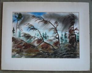 Milo-Winter-Jr-Well-LISTED-mod-landscape-mid-20th-century-Colorist-modernist
