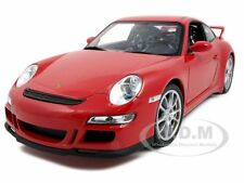 PORSCHE 911 (997) GT3 RED 1:18 DIECAST MODEL CAR BY WELLY 18024