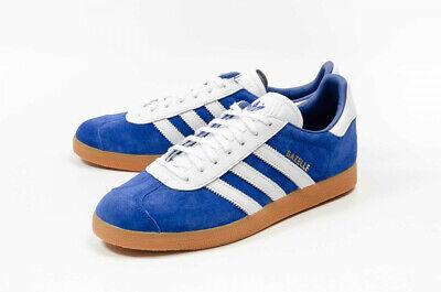 Adidas Gazelle Royal Blue Suede White GUM Brown GOLD Sneakers Shoes B37943 SZ 8 | eBay