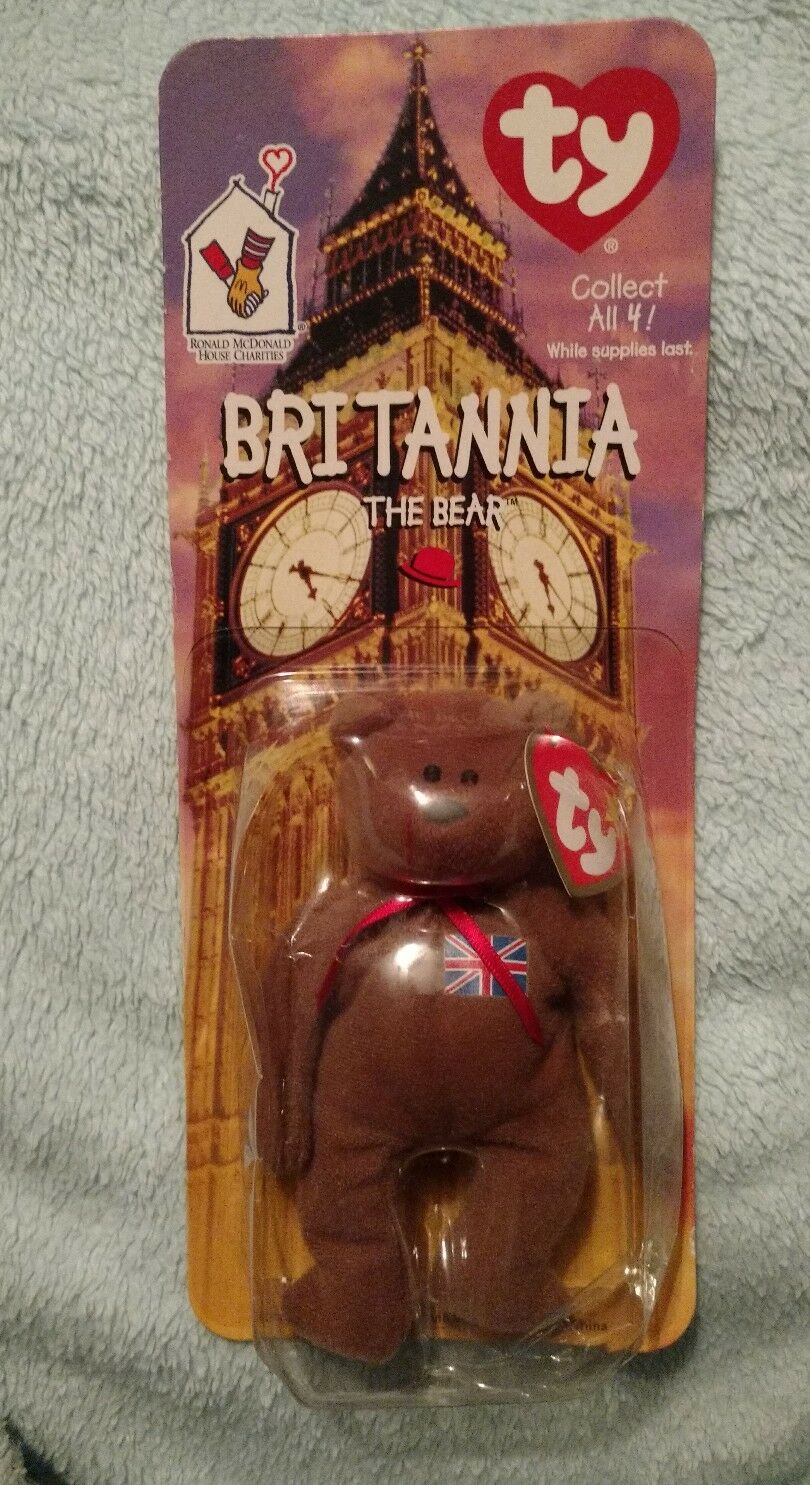 Brittannia The Bear Original Beanie Baby Ronald Mc Donald House Charities rare