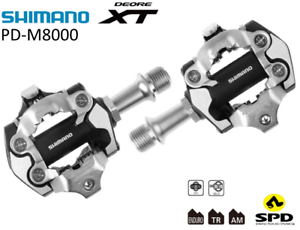 Shimano Deore XT PD-M8000 Pedals SPD Clipless Mtb Bicycle