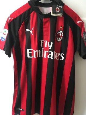 Maglia Milan 2018 2019 Gonzalo HIGUAIN 9 Serie A patch TAGLIA M   eBay