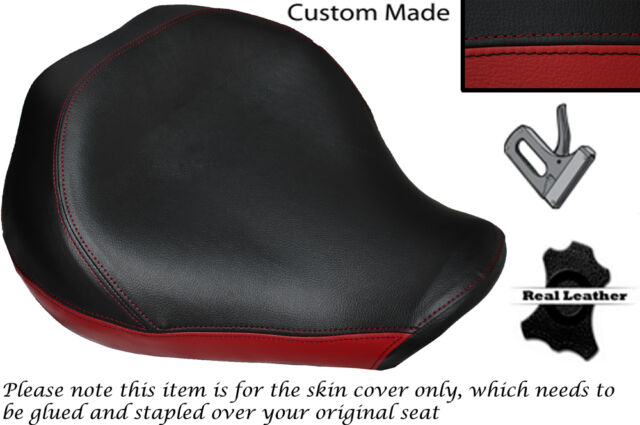 BLACK& DARK RED CUSTOM FITS YAMAHA XVS 1300 MIDNGHT STAR 07-14 FRONT SEAT COVER
