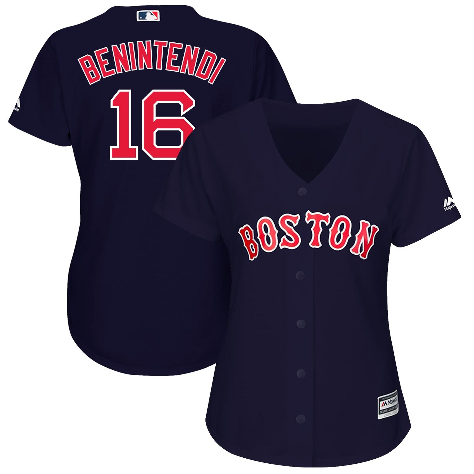 MLB Boston rot Sox Majestic Replik Cool Base Wechsel Trikot Baseball Shirt Damen