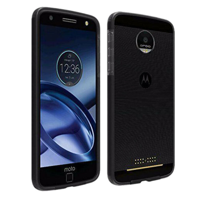 newest 7ae10 44fc3 Verizon Motorola Moto Z Droid OEM Two-tone Case Black