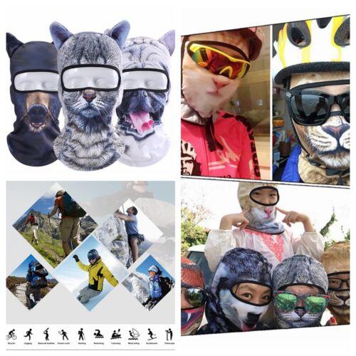 3D Tier Ohren Balaclavas Fahrrad Sports Ski Hut Vollgesichtsmaske Outdoor Sports