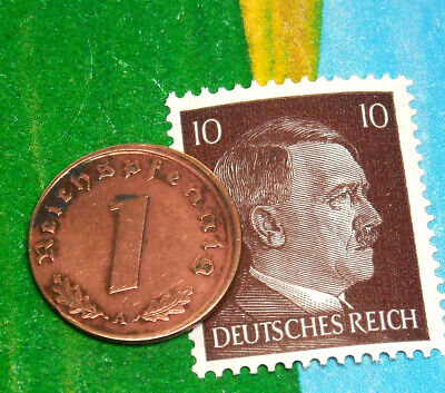 stamp with Swastika Germany coin #21 buy 2 coins /& get extra stamp