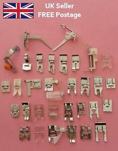 Snap on Sewing Machine Presser Feet Foot Domestic Universal UK Seller FREE post