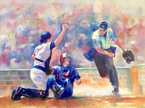CHICAGO CUBS* watercolor lithograph print Limited edition signed by artist