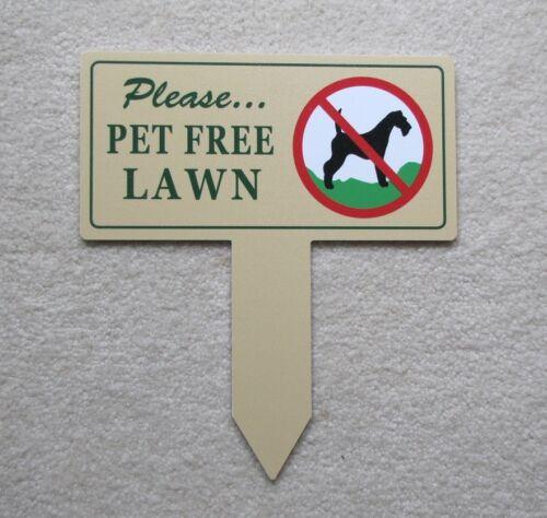 Pet Free Lawn SignNo Dog Poop StakeNo Poop No Pee Sign Dog Poop Signs
