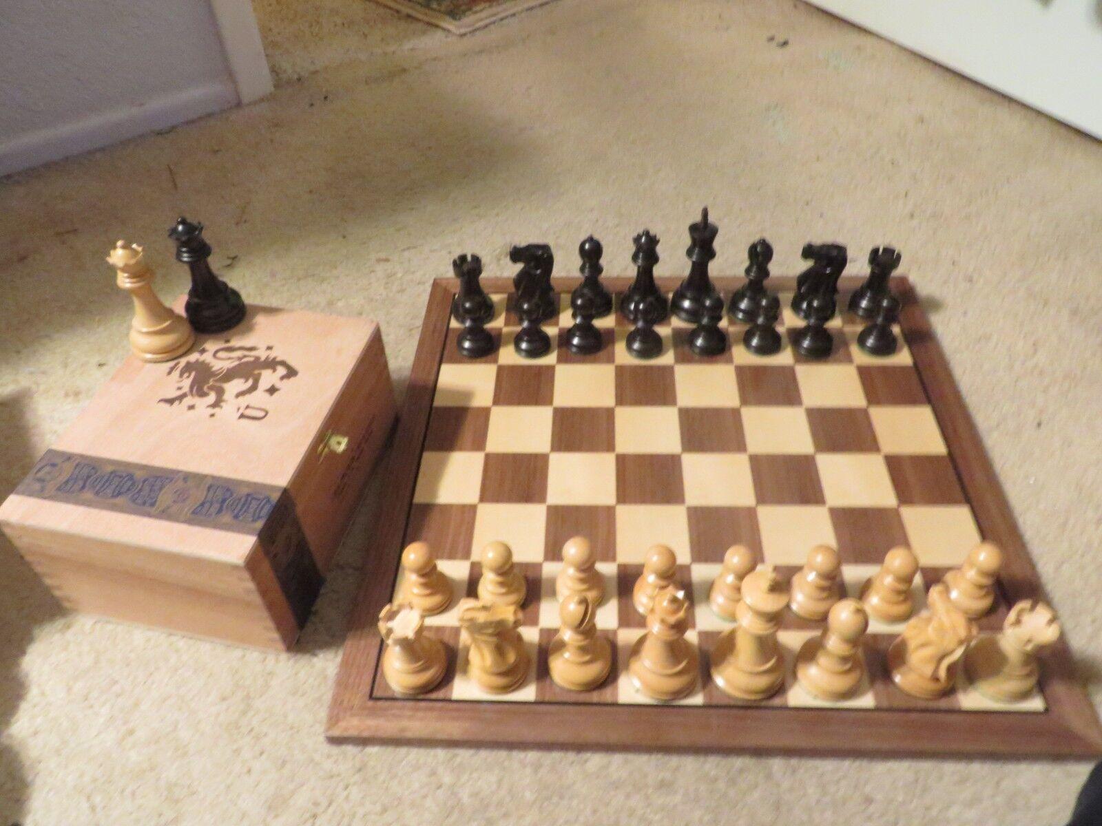 Vintage Allan Troy Chess Set-remarquable Staunton bois Set-quatre reines   -- 59.  livraison rapide et livraison gratuite sur toutes les commandes