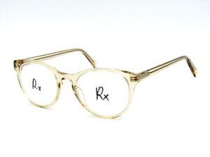 Warby Parker JANE Eyeglasses Frame, 664 Clear Round Acetate. 49-18-145 #81H