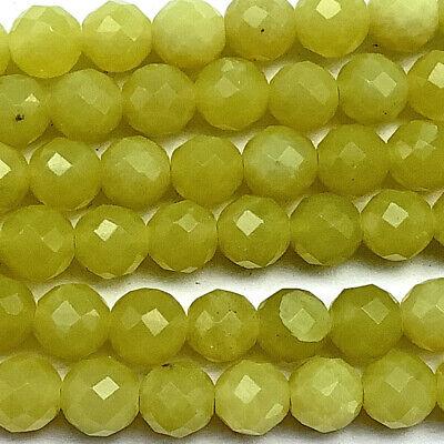 Aventurine 6mm Peach Faceted Round Semi Precious Stone Beads Q32 Beads per Pkg