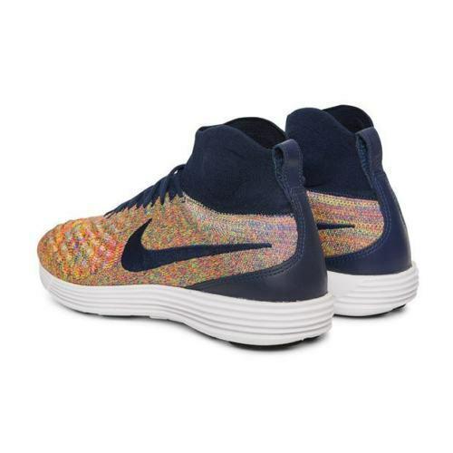 Para hombre Nike Lunar Magista II FK Flyknit Zapatillas Multi Color 852614 403