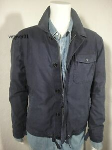 Ralph Twill Militarycombat Navy Jacket Washed Cotton About Size Details Xl Nwt Polo Lauren gYbyf76